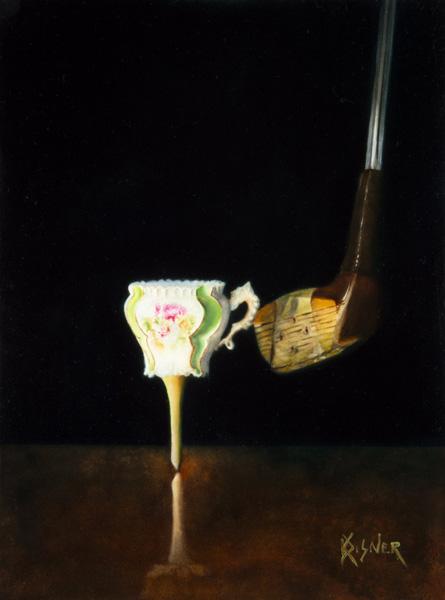 Kathie Disner, Tea Doff, oil, 12 x 9.