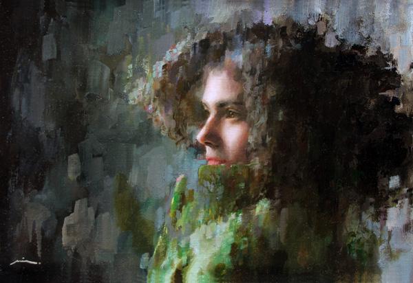 Mia Bergeron, Dissipate, oil, 10 x 15.