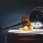 Ken Grant, Dobro Guitar, oil, 24 x 36.