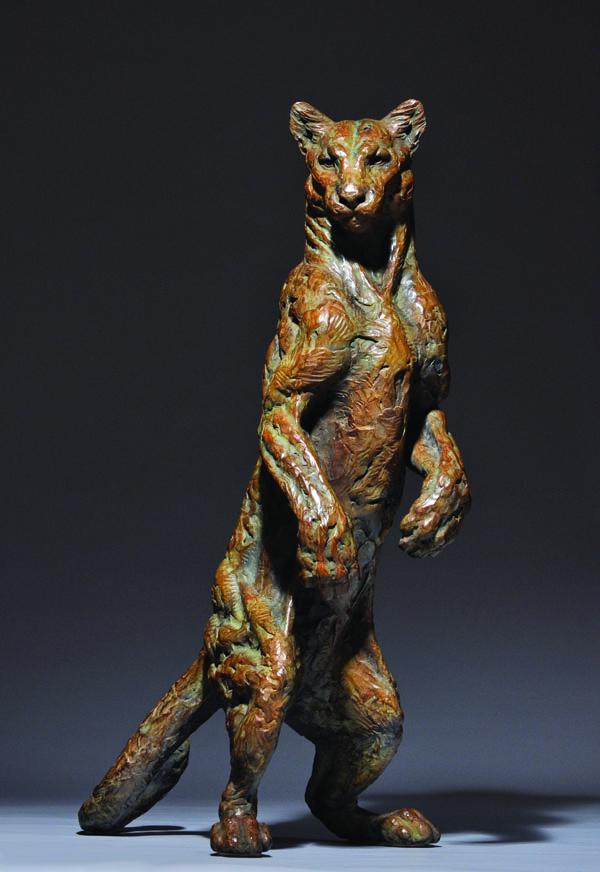 Mick Doellinger, Curiosity, bronze, 37 x 25 x 18.