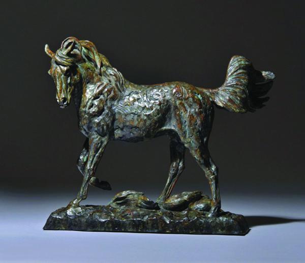 Mick Doellinger, Full of Himself, bronze, 21 x 26 x 9.