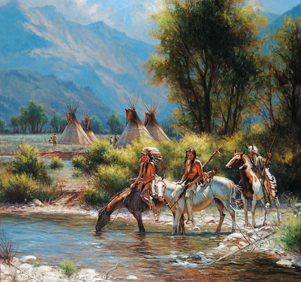 Don Oelze, Valley Encampment, oil, 40 x 42.