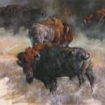 Terry Donahue, Stalwart, pastel, 28 x 40.