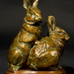 Margery Torrey, Double Trouble, bronze, 8 x 6 x 4.