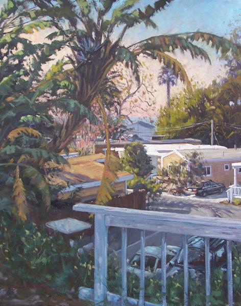 Scott Prior, Doublewides in Paradise, oil, 30 x 24.