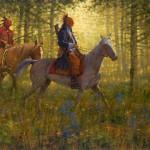 Doug Hall, Blue Jacket's Victory, oil, 36 x 48.