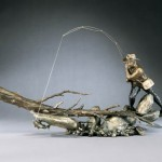 Mark Hopkins, Downriver Run, bronze, 19 x 37 x 17.