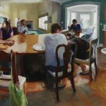 Kari Dunham, Come to the Table, oil, 56 x 83.