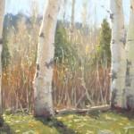 Kathleen Dunphy, Autumn's End, oil, 12 x 16.
