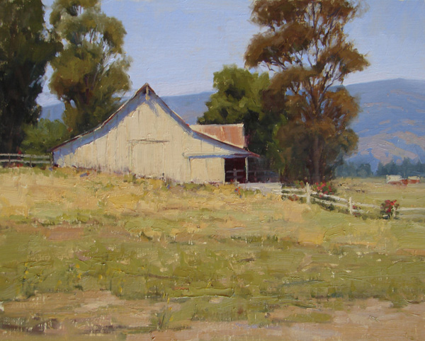 Kathleen Dunphy, Napa Summer Fields, oil, 16 x 20.
