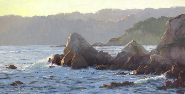 Kathleen Dunphy, Magic Hour, oil, 15 x 30.