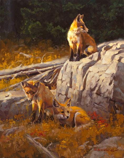 Dustin Van Wechel, The Wait, oil, 14 x 11.