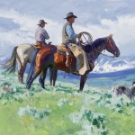 Loren Entz, Colorado Cowboys, oil, 16 x 20.