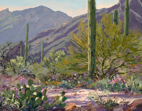 Carol Swinney, Evening in the Catalinas, oil, 11 x 14.