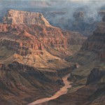 Brenda Howell, East Rim Morning Mist, oil, 24 x 30.