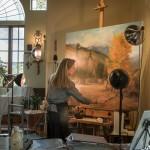 Cynthia Eckhardt's art studio