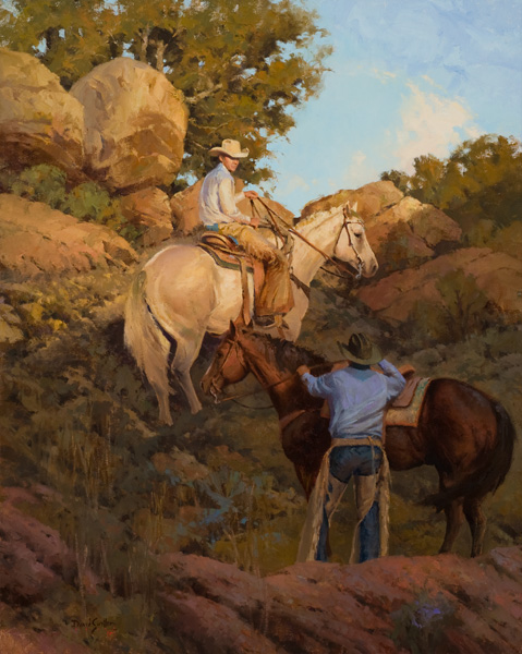David Griffin, Eden Under a Blue Sky, oil, 30 x 24.