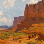 Edgar Payne, Monument Valley, Riverbed, oil, 25 x 30. Estimate: $140,000-$180,000.