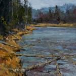 Silas Thompson, Edge of the Lake, oil, 20 x 20.