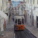 Greg Gandy, Electrico to Bairro Alto, oil, 24 x 36.