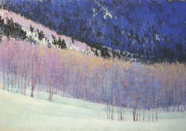 Winter's Progression, pastel, 16 x 23.