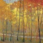 Yellows at the Creek, pastel, 16 x 16.