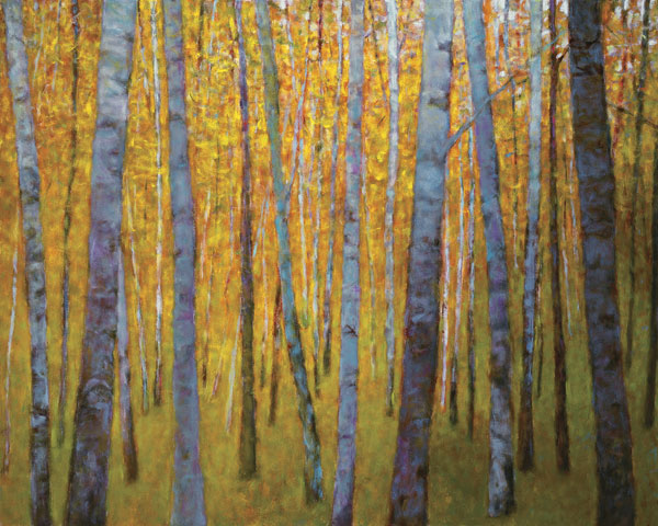Forest Verticals, oil, 48 x 60.