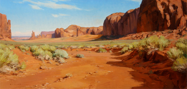 Josh Elliott, Inhospitable Beauty, oil, 24 x 48.