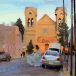 Kim English, A Dance Through Santa Fe, oil, 8 x 12.