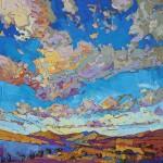 Erin Hanson, Driving Sky, oil, 24 x 24.