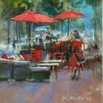 Greg Barnes, Esco Bar, pastel, 12 x 9.