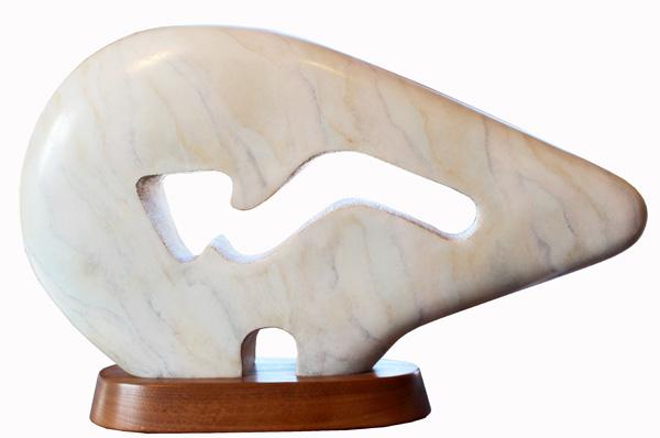 Upton Ethelbah, Anasazi Spirit Bear, bronze, 13 x 21 x 6.