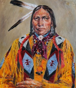 Ethelinda, The Arapaho, oil painting