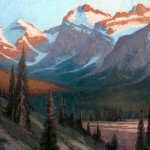 Jerry Markham, Evening Rising, oil, 30 x 40.