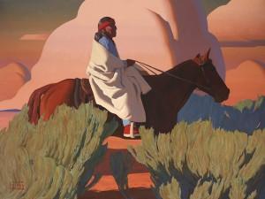 Logan Maxwell Hagege, Evening Song, oil, 72 x 96.