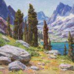 Ned Mueller, Lake Ediza, oil, 10 x 12.