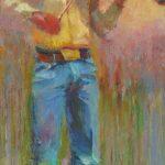 V... Vaughan, Cody, oil, 36 x 18.v