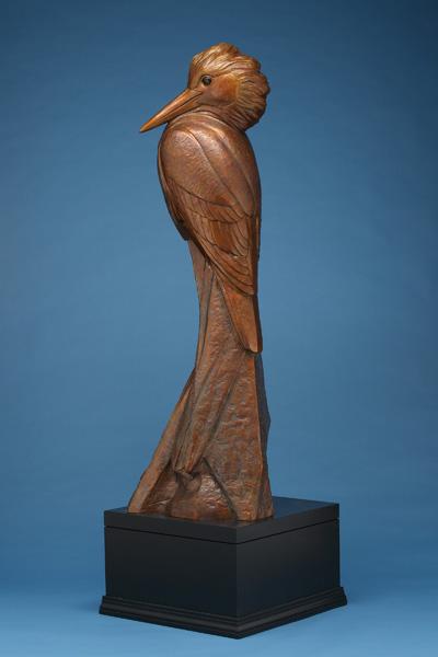Kent Ullberg, Kingfisher, bronze, 79 x 26 x 23.
