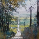 Thomas W. Schaller, Fairmont Road, Ohio, watercolor, 24 x 18.