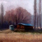 Adam Winegar, Fall Storage, oil, 8 x 10.