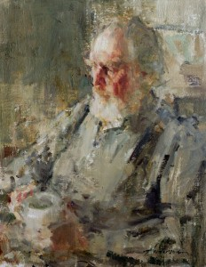 Carolyn Anderson   Father's Morning, oil, 14 x 11.