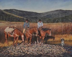 John Fawcett, Rocky Respite, oil, 24 x 30.