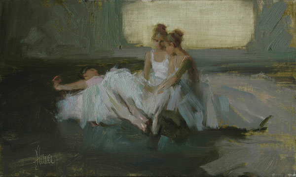 Johanna Harmon, Fellowship, oil, 6 x 10.