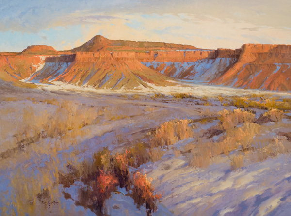 David Griffin, Fire and Ice, oil, 30 x 40.