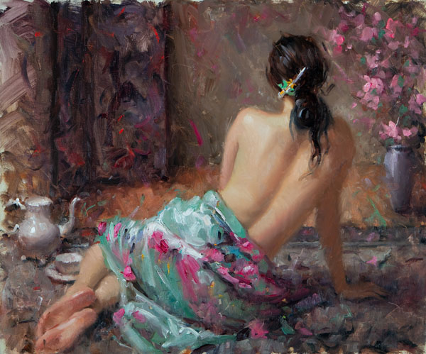 Bryce Cameron Liston, First Blossoms, oil, 20 x 24.