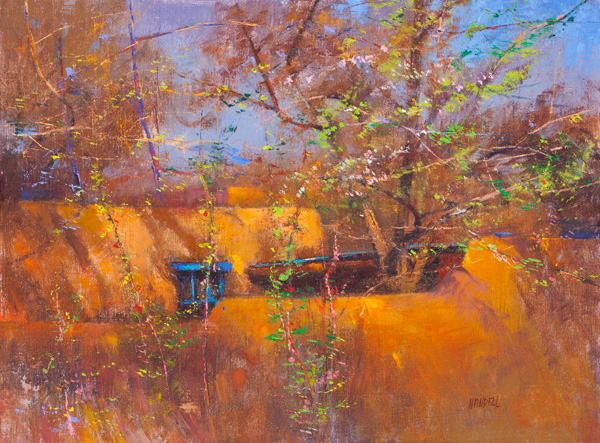 Albert Handell, First Sign of Spring, oil, 18 x 24.