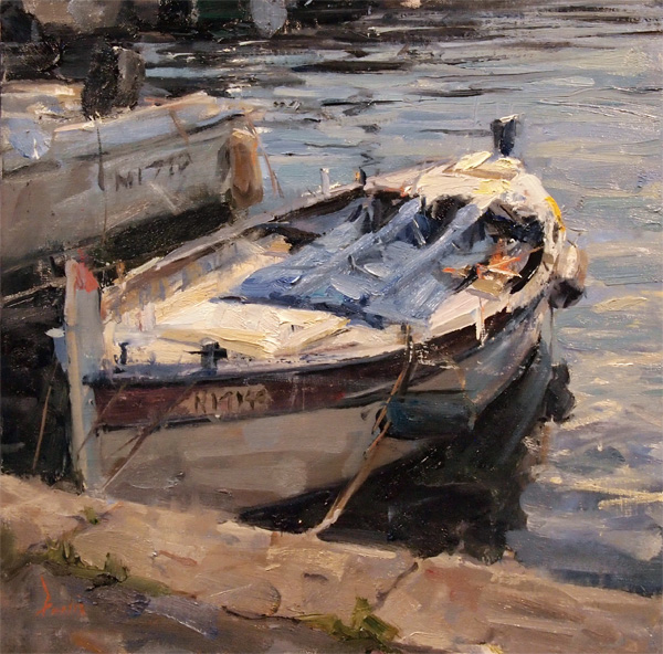 Derek Penix, Fishing Boat, oil painting