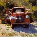 Flatbed Ford, oil, 10 x 10.
