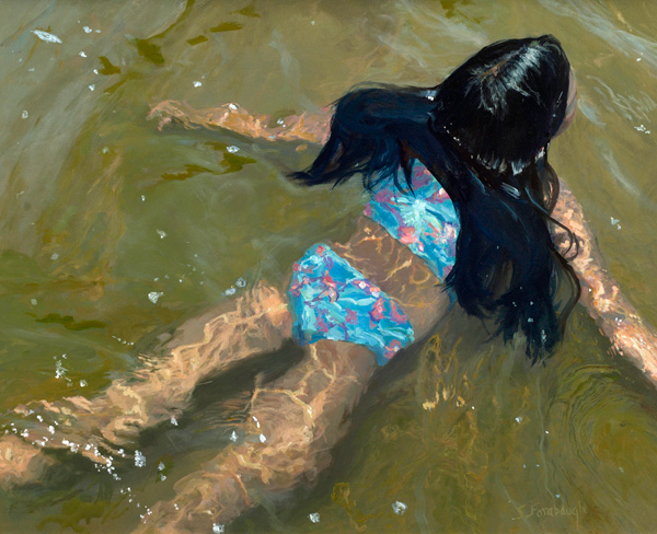 Sheri Farabaugh, Floating, oil, 16 x 20.