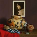 William Acheff, Flowers Will Always make her Day, oil, 24 x 22.